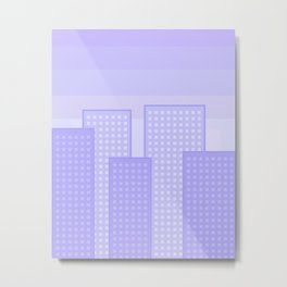 pretty city blue Metal Print