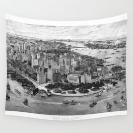 Vintage New York 1903 Wall Tapestry