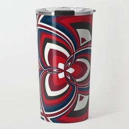 Spiral Rose Pattern A 1/4 Travel Mug