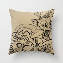 Brittle Bambi Throw Pillow