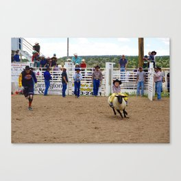 Mutton Busting  Canvas Print