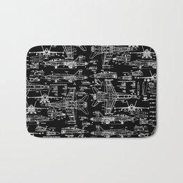 F-18 Blueprints // Black Bath Mat