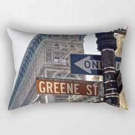 Streets of SoHo NYC Rectangular Pillow