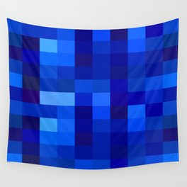 Blue Mosaic Wall Tapestry