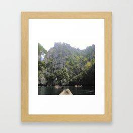 Cliffs of El Nido Framed Art Print