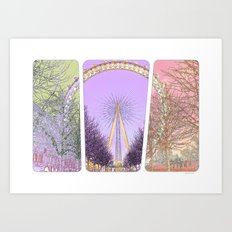 London Eye pop art Art Print