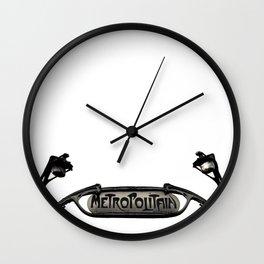 La ville lumière Wall Clock