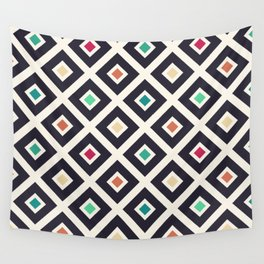 Modern Trendy Geometric Patter in Fresh Vintage Coffee Style Colors Wall Tapestry