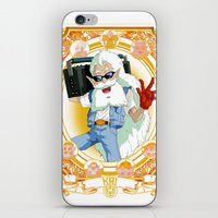 dragonball z iPhone & iPod Skins featuring DragonBall Z - Kai House by Art of Mike