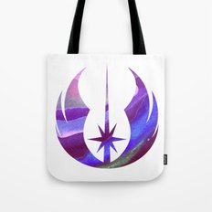 Star Wars Jedi Symbol in Blue Tote Bag