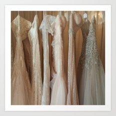 Wedding Bells and Ball Gowns Art Print