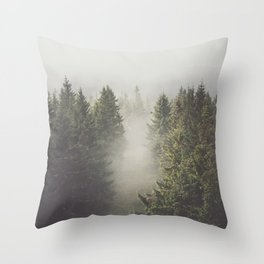 My misty way - Landscape and Nature Photography Throw Pillow