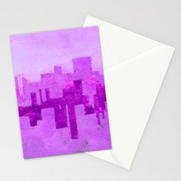 Industrial City Ombre Stationery Cards
