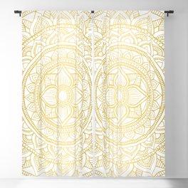 Hand Drawn Gold Bali Mandala Blackout Curtain