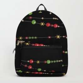 Merry Christmas . Beads Decoration . Backpack