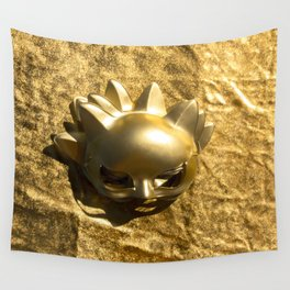 Golden Mask Wall Tapestry