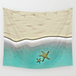 SANDY BEACH & STARFISH Wall Tapestry