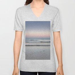 Serenity Sunrise. Barrosa Beach. Cadiz Unisex V-Neck
