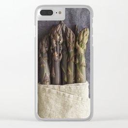 Purple asparagus Clear iPhone Case