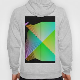 RGB (red gren blue) pixel grid planes crossing at right angles Hoody