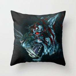 Chaos Tiger Throw Pillow