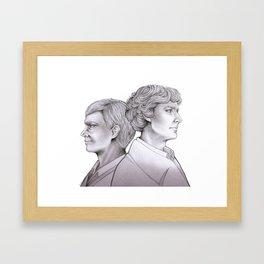 Sherlock & John Framed Art Print
