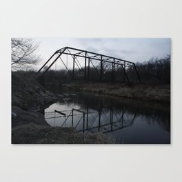 dark bridge Canvas Print