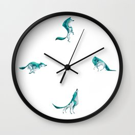 Wolf poses Wall Clock