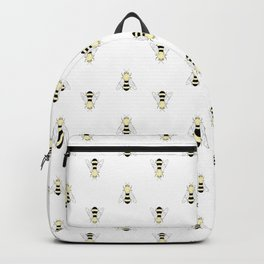 Vintage Bee Pattern Backpack