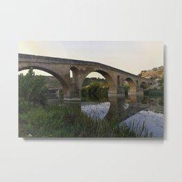 Medieval Bridge - Puente la Reina, Camino to Santiago de Compostela Metal Print