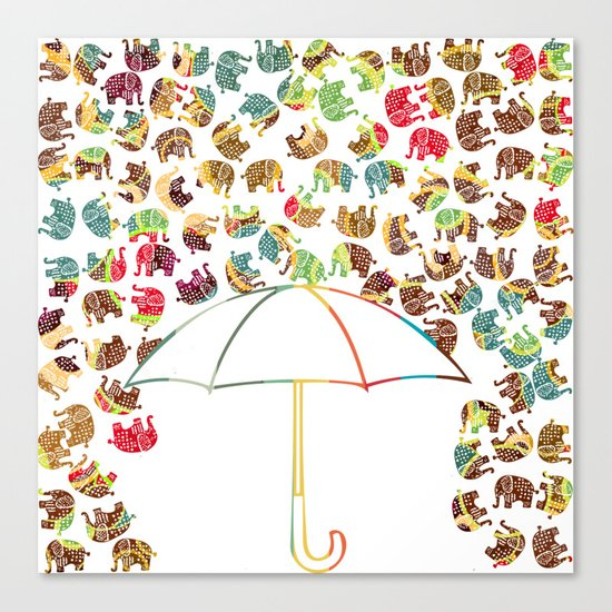 Rain in Africa Canvas Print