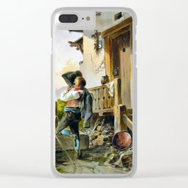 Anton Altmann Rest and Refreshment at the Fountain Clear iPhone Case