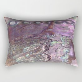 Shimmery Lavender Abalone Mother of Pearl Rectangular Pillow