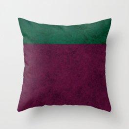 Green suede Throw Pillow