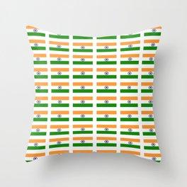 Flag of India 2-indian,mumbai,delhi,hindi,indus,buddhism,hinduism,buddha,gandhi Throw Pillow