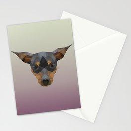 Polygon Pinscher Stationery Cards