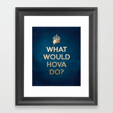 What Would Hova Do? - Jay-Z Framed Art Print