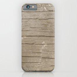 Nautical Driftwood Wood Grain Pattern iPhone Case