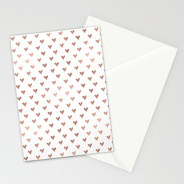 rose gold hearts Stationery Cards