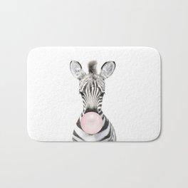 Bubble Gum Zebra Bath Mat