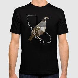California – California Valley Quail (Black) T-shirt