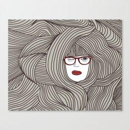 Long Hair Woman Canvas Print