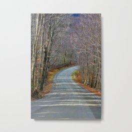 Montgomery Mountain Road Metal Print
