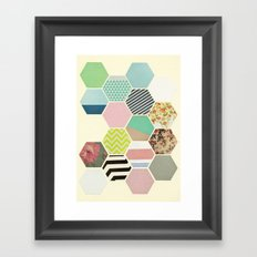 Florals and Stripes Framed Art Print