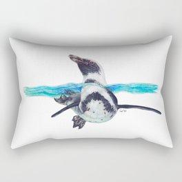 Swimming Penguin Rectangular Pillow