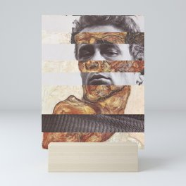 Egon Schiele's Self Portrait with Bare Shoulder & James D. Mini Art Print