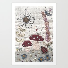 Mushroom Corner Art Print