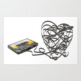 Cassette Heart Art Print
