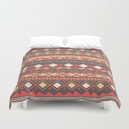 Aztec tribal pattern in stripes, vector illustration Duvet Cover