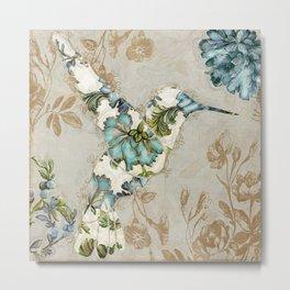 floral bird Metal Print